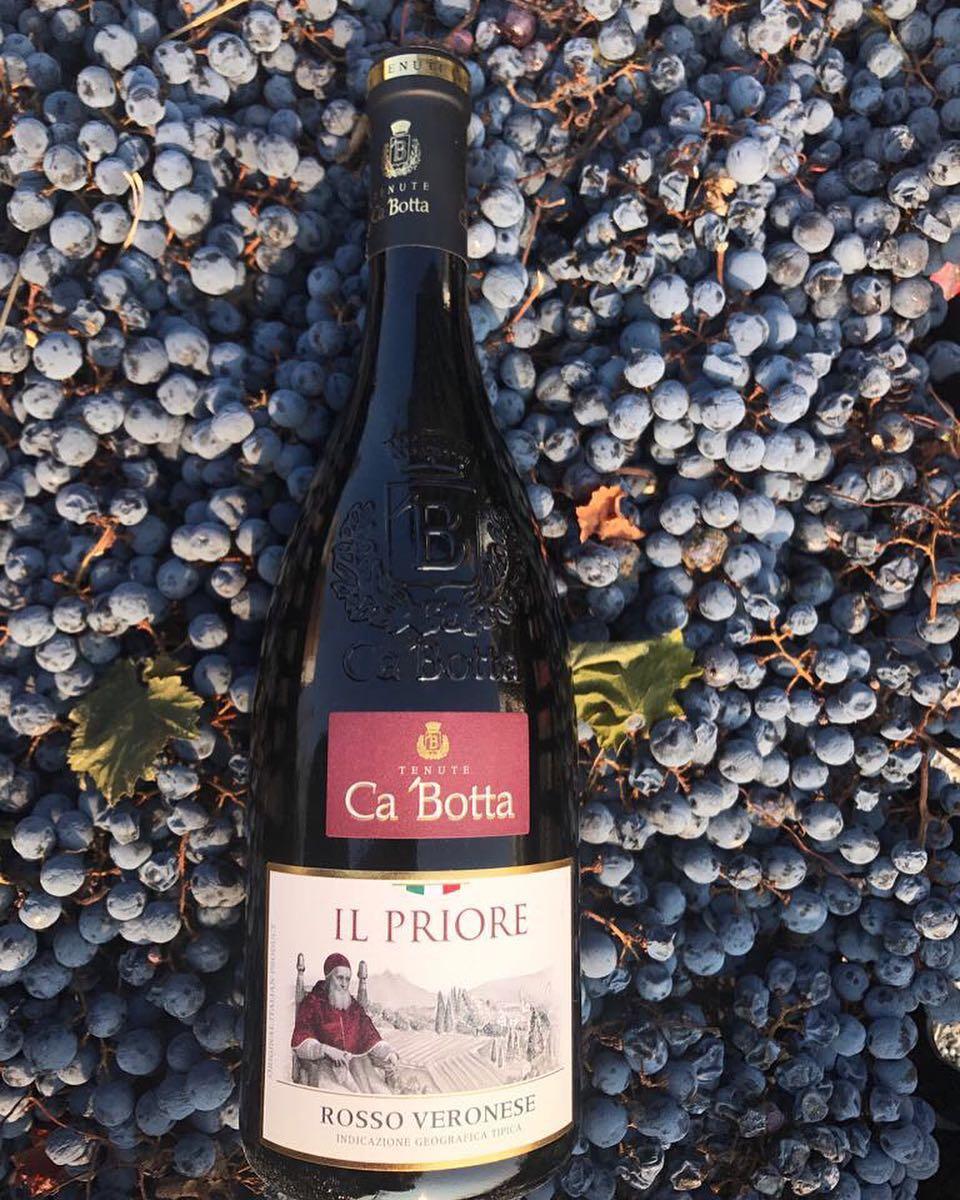 Il Priore концептуальное красное сухое вино, изготовленное из вяленого винограда и выдержанное в запатентованной бочке Fermentino Ca'Botta  Полнотелое, бархатистое, сбалансированное. В букете ощущаются ноты диких лесных ягод и вишни, послевкусие — оттенки табака и ванили