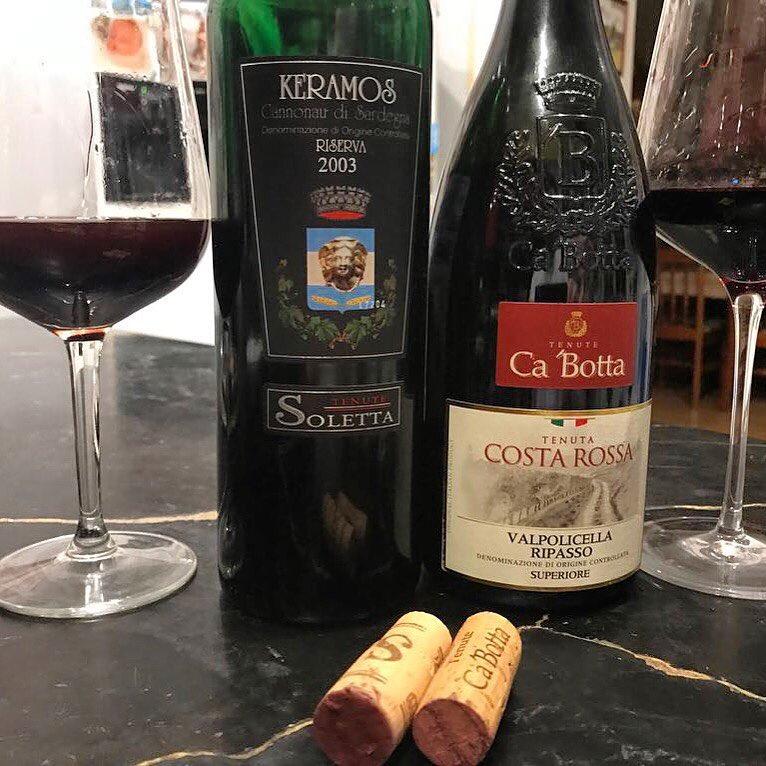 Сравниваем великое вино из Сардинии и наше Valpolicella Ripasso Superiore Costa Rossa Ca'Botta